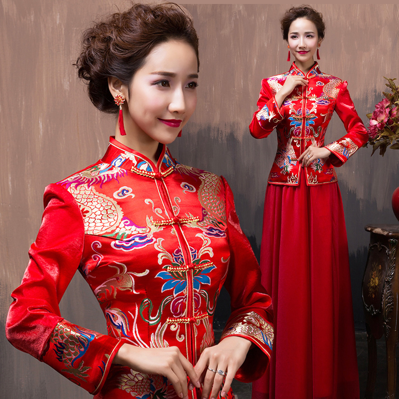 Tìm hiểu nét độc đáo của áo cưới truyền thống Trung Quốc
