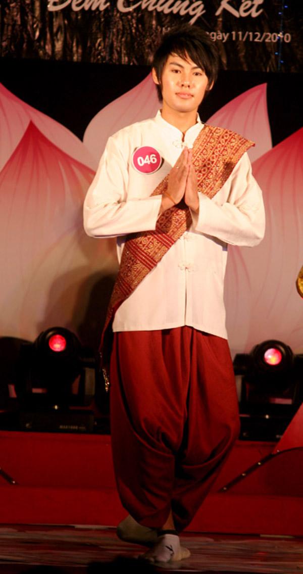 Trang phục truyền thống của Lào dành cho nam giới là Salong
