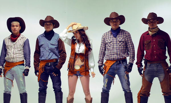 Hình ảnh cao bồi trong thời trang Mỹ