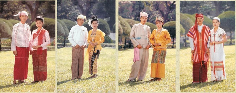 Quần Longchy là trang phục truyền thống Myanmar cho nam giới