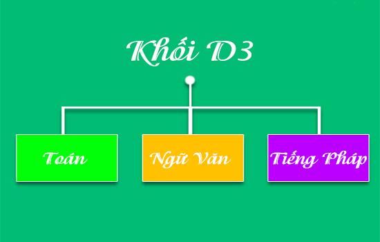 Khối D3 bao gồm những môn nào?